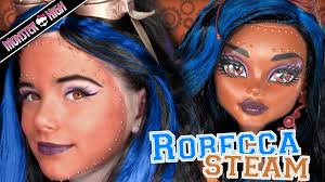 robecca steam monster high doll costume makeup tutorial for