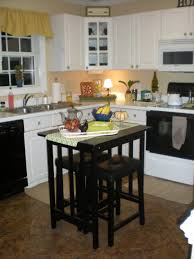 wood countertops movable kitchen island with seating lighting