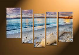 5 piece grey ocean canvas photography