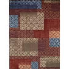 Multicolor Rug Mainstays Payton Nylon Area Rugs Or Runner Walmart Com