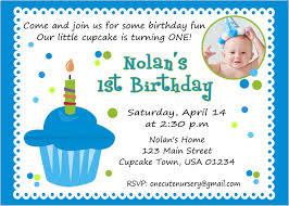 Free Printable Birthday Invitation Cards With Photo Birthday Invites Excellent Baby Boy First Birthday Invitations