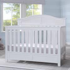 White Convertable Crib by Delta Children Bennington Elite Curved 4 In 1 Convertible Crib