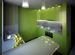 vibrant kitchen with green kitchen cabinets feat white laminate