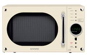 daewoo daewoo retro microwave oven 23 litre cream amazon co uk