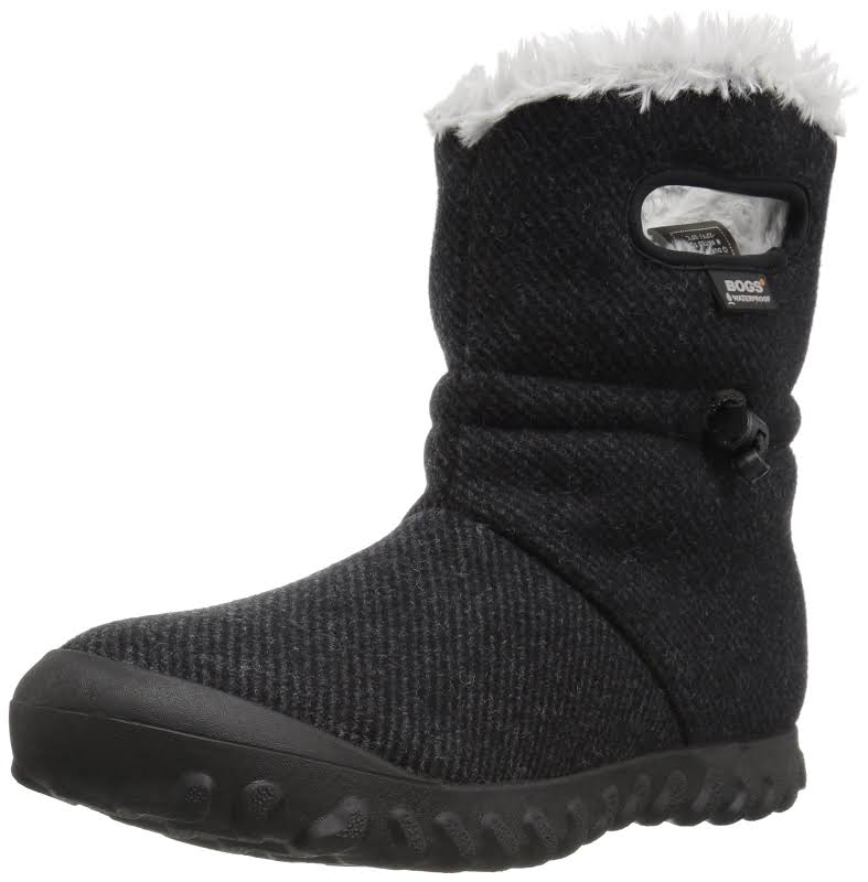 Bogs B Moc Wool Black Medium 10 72106-001-M-10