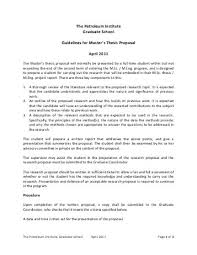 Master Thesis Proposal Guidelines   The Petroleum Institute