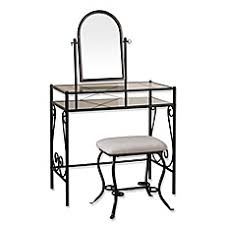 Linon Home Decor Vanity Set With Butterfly Bench Black Storage U0026 Shower Benches Bathroom Vanity Sets U0026 Stools