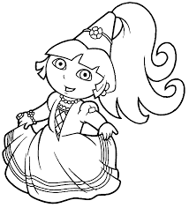 dora pirate piggies coloring page