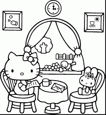 amazing hello kitty coloring pages with kids printable coloring