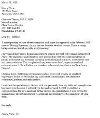 Examples Of Cover Letters For Nurses  cover letter for a nursing     Resume Genius