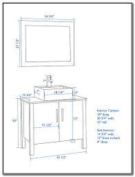 Bathroom Vanity With Vessel Sink Height Sink And Faucets  Home - Height of bathroom vanity for vessel sink