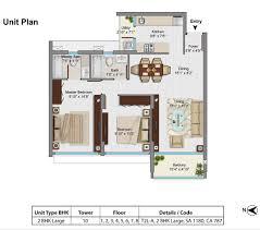 floor plan tata housing goa paradise
