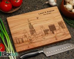 Cool Cutting Boards Personalized Engraved Cutting Board W Chicago 2 Skyline