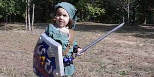 link halloween tiny link battles monsters and finds cool legend of zelda treasure