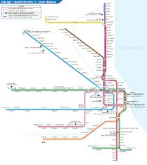 Public Transit Chicago Map by List Of Chicago