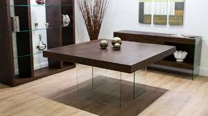 aria espresso dark wood and glass square dining table youtube
