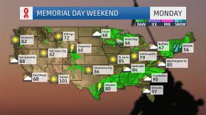 Weather Map Ohio Memorial Day Forecast Stormy Weather Possible In East South And