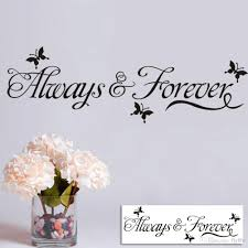 Art On Walls Home Decorating by Always Forever Lettering Wall Decals Art Home Decor Black