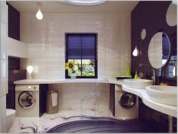 romantic interior decoration bathroom idea with white sink black