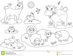farm animal coloring pages for toddlers