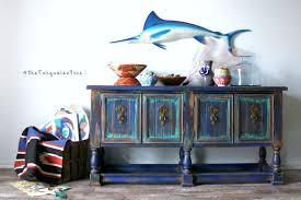 Hand Painted Furniture by The Turquoise Iris Furniture U0026 Art Rustic Boho Console Table
