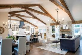 Exposed Beam Ceiling Living Room by Photos Hgtv U0027s Fixer Upper With Chip And Joanna Gaines Hgtv