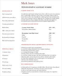 Administrative Assistant Resume Objective Examples by Executive Assistant Resumes Administrative Assistant Resume