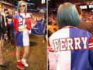 Katy Perry Sports Custom Super Bowl Outfit | Style