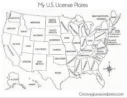 Printable Map Of The United States License Plate Game License Plates Plays And Gaming