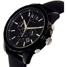 armani exchange black friday armani exchange men u0027s ax1326 black silicone watch ebay