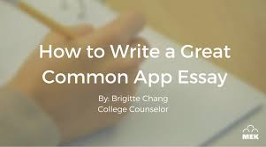 college essay examples for common application How To Write A Great Common App Essay MEK Review MEK