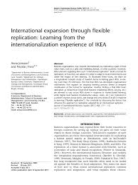 international expansion through flexible replication learning