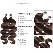 Human Hair Glue In Extensions by 6 30 Inch 4 Medium Brown Stick I Tip Body Wave Real Human Hair