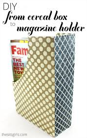 diy home decor magazine holders out of cereal boxes