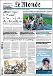 Newspaper Le Monde (France). Newspapers in France. Sundays.