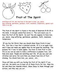 fruit of the spirit for kids fruit of the spirit sunday