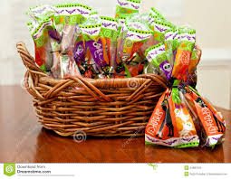 Halloween Gift Basket by Halloween Candy Stock Images Image 34987004