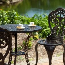 Cast Iron Patio Set Table Chairs Garden Furniture - 57 wrought iron patio set wrought iron patio furniture lowes