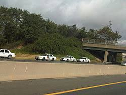 Numerous State Police cars parked on the side of the New Jersey Turnpike  Wikipedia