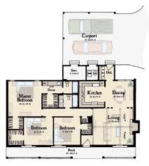 Carport Porte Cochere Ranch Style House Plan 3 Beds 2 00 Baths 1365 Sq Ft Plan 36 107