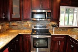 Backsplash Ideas For Cherry Cabinets Kitchen Pinterest - Kitchen backsplash ideas dark cherry cabinets