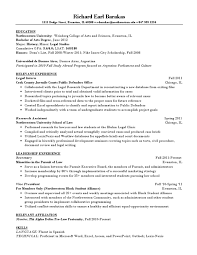 Legal Resume Sample by Sample Law Resume By Northwestern University Career Services Issuu