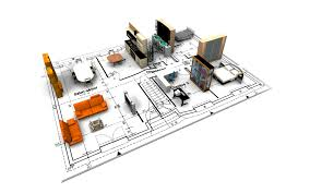 architectures 3d kitchen plan with teal kitchen cabinet and