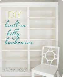 Ikea Bookshelves Built In by 55 Best Diy Built Ins Images On Pinterest Home Built Ins And