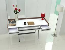 Modern White Office Desks Nova Domus Branton Contemporary White U0026 Walnut Office Desk Desks