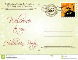 free halloween invite templates halloween monster party postcard invitation template stock vector