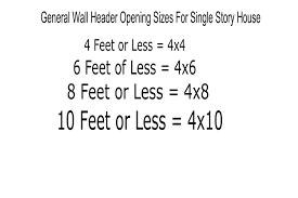 window and door header sizes structural engineering and home