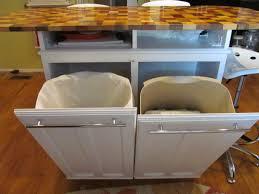 kitchen island with trash storage kitchens design