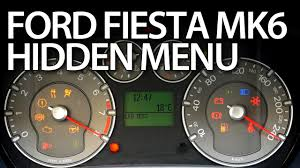 how to enter hidden menu in ford fiesta mk6 service test mode