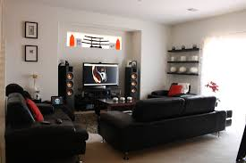 Simple Wall Shelves Design High Back Rest Leather Recliner Chairs Movie Theatre Basement